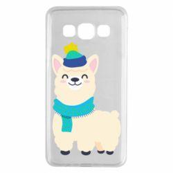 Чехол для Samsung A3 2015 Llama in a blue hat