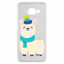 Чехол для Samsung A3 2016 Llama in a blue hat