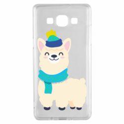 Чехол для Samsung A5 2015 Llama in a blue hat