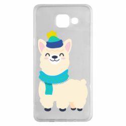 Чехол для Samsung A5 2016 Llama in a blue hat