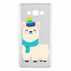 Чехол для Samsung A7 2015 Llama in a blue hat