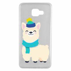 Чехол для Samsung A7 2016 Llama in a blue hat