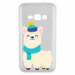 Чехол для Samsung J1 2016 Llama in a blue hat