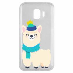 Чехол для Samsung J2 2018 Llama in a blue hat