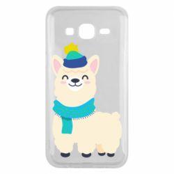 Чехол для Samsung J5 2015 Llama in a blue hat