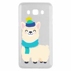 Чехол для Samsung J5 2016 Llama in a blue hat