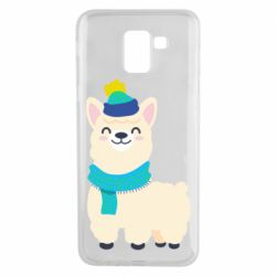 Чехол для Samsung J6 Llama in a blue hat