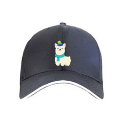 Кепка Llama in a blue hat