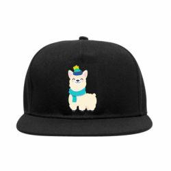 Снепбек Llama in a blue hat