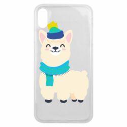 Чехол для iPhone Xs Max Llama in a blue hat