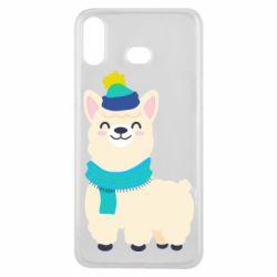 Чехол для Samsung A6s Llama in a blue hat