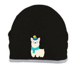 Шапка Llama in a blue hat