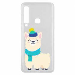Чехол для Samsung A9 2018 Llama in a blue hat