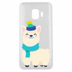 Чехол для Samsung J2 Core Llama in a blue hat