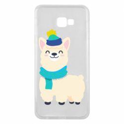 Чехол для Samsung J4 Plus 2018 Llama in a blue hat