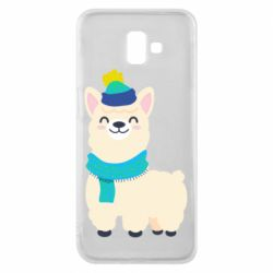 Чехол для Samsung J6 Plus 2018 Llama in a blue hat