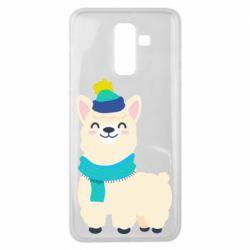 Чехол для Samsung J8 2018 Llama in a blue hat