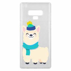 Чехол для Samsung Note 9 Llama in a blue hat