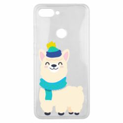 Чехол для Xiaomi Mi8 Lite Llama in a blue hat