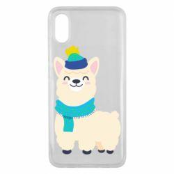 Чехол для Xiaomi Mi8 Pro Llama in a blue hat