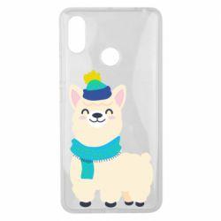 Чехол для Xiaomi Mi Max 3 Llama in a blue hat