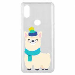 Чехол для Xiaomi Mi Mix 3 Llama in a blue hat
