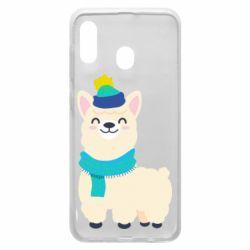 Чехол для Samsung A20 Llama in a blue hat