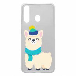 Чехол для Samsung A60 Llama in a blue hat