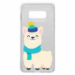 Чехол для Samsung S10e Llama in a blue hat