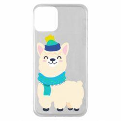 Чехол для iPhone 11 Llama in a blue hat