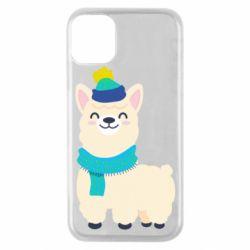 Чехол для iPhone 11 Pro Llama in a blue hat