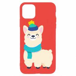 Чехол для iPhone 11 Pro Max Llama in a blue hat