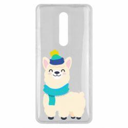 Чехол для Xiaomi Mi9T Llama in a blue hat