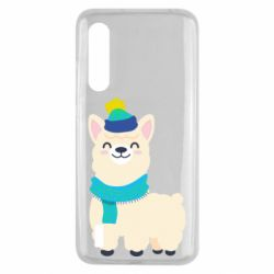 Чехол для Xiaomi Mi9 Lite Llama in a blue hat