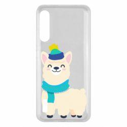 Чохол для Xiaomi Mi A3 Llama in a blue hat