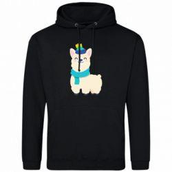 Мужская толстовка Llama in a blue hat