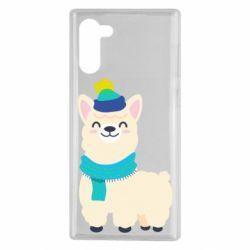 Чехол для Samsung Note 10 Llama in a blue hat