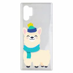 Чехол для Samsung Note 10 Plus Llama in a blue hat