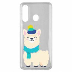 Чехол для Samsung M40 Llama in a blue hat