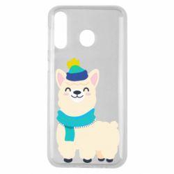 Чехол для Samsung M30 Llama in a blue hat