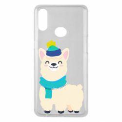 Чехол для Samsung A10s Llama in a blue hat