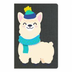 Блокнот А5 Llama in a blue hat