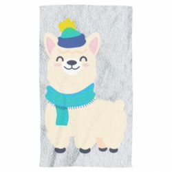 Полотенце Llama in a blue hat