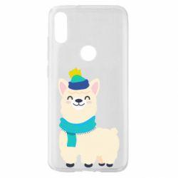 Чехол для Xiaomi Mi Play Llama in a blue hat