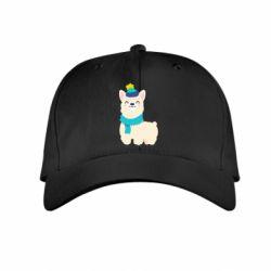 Детская кепка Llama in a blue hat