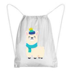 Рюкзак-мешок Llama in a blue hat