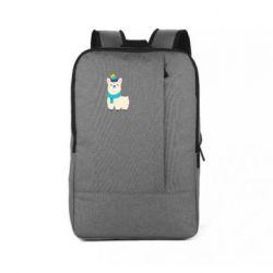 Рюкзак для ноутбука Llama in a blue hat