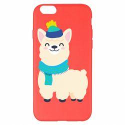 Чехол для iPhone 6 Plus/6S Plus Llama in a blue hat