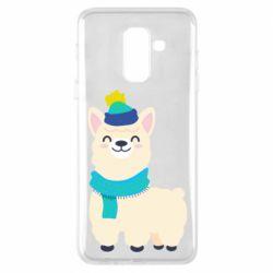 Чехол для Samsung A6+ 2018 Llama in a blue hat