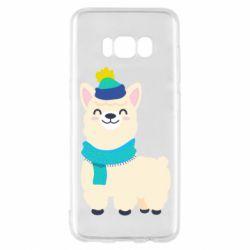Чехол для Samsung S8 Llama in a blue hat